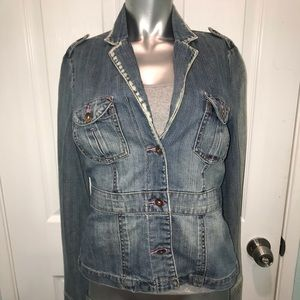 billabong denim jacket/ blazer